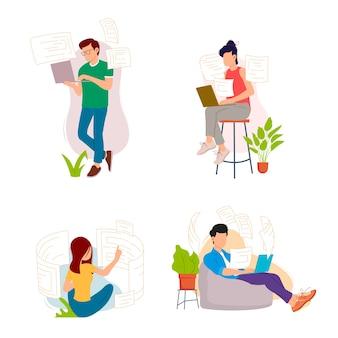 Zbiór osób pracujących w domu