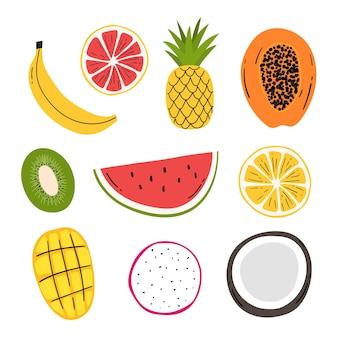 Zbiór owoców tropikalnych