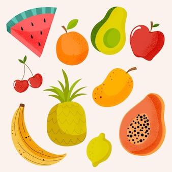 Zbiór płaskich pysznych owoców