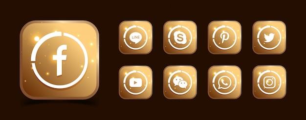 Zbiór popularnych ikon w mediach społecznościowych