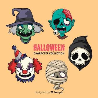Zbiór postaci halloween