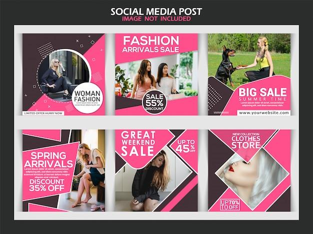 Zbiór postów w mediach społecznościowych