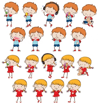 Zbiór różnych dzieci