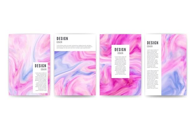 Zbiór różnych kolorowych wzorów okładek