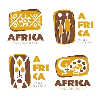 Zbiór różnych logo afryki