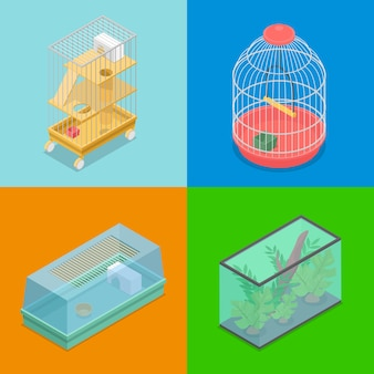Zbiór różnych przewoźników dla zwierząt