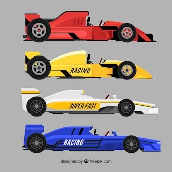 Zbiór różnych samochodów formuły 1