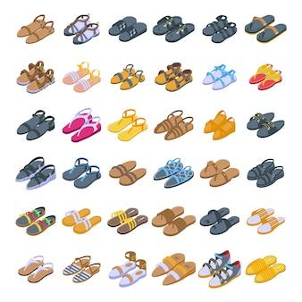 Zbiór różnych sandałów