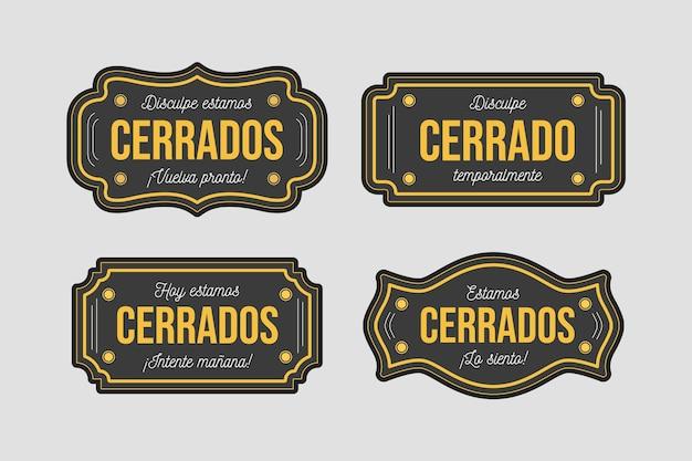 Zbiór różnych szyldów cerrado