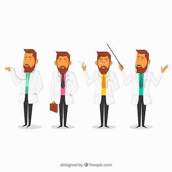 Zbiór różnych znaków lekarza