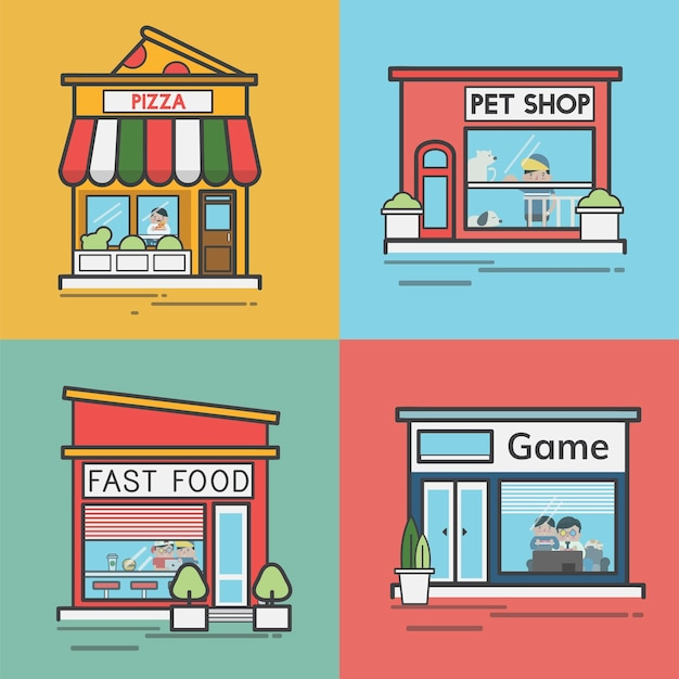 Zbiór sklepów i sklepów
