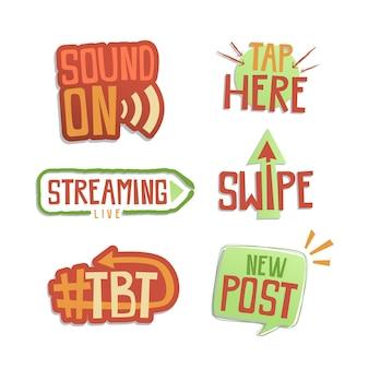 Zbiór slangu mediów społecznościowych