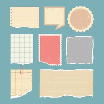 Zbiór starych papierów do notatnika