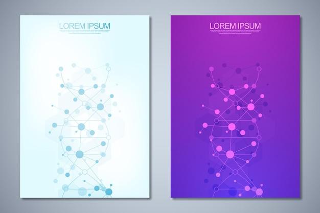Zbiór szablonów broszur lub projektów okładek