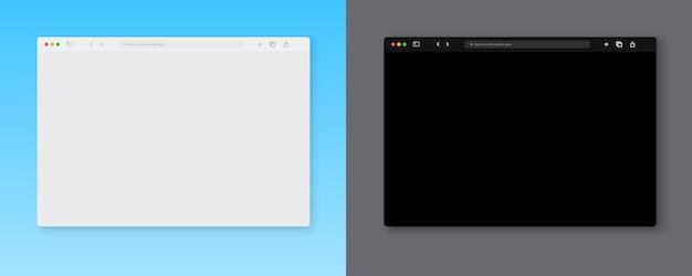 Zbiór szablonu okna przeglądarki internetowej