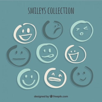 Zbiór szkiców emotikony