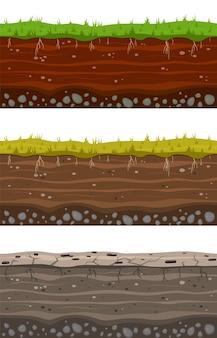 Zbiór warstw gruntu soil