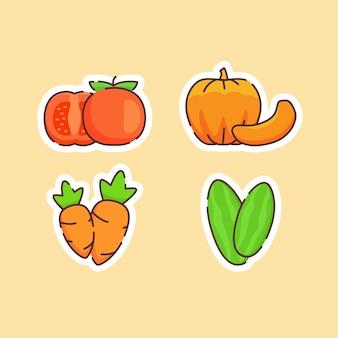 Zbiór warzyw na białym tle na beż
