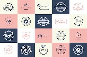 Zbiór wektorów logo i znaczków