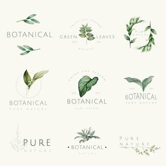 Zbiór wektorów logo przyrody i roślin