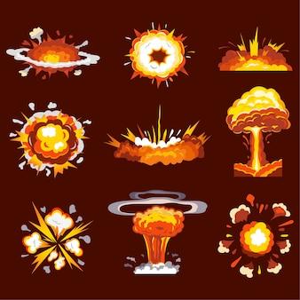 Zbiór wybuchów eksplozji