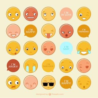 Zbiór zabawnych emotikonów z wiadomości