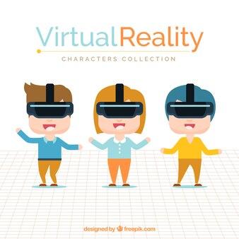 Zbiór znaków zabawy z rzeczywistością wirtualną