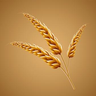 Zbliżenie patrząc na słód na ilustracji 3d