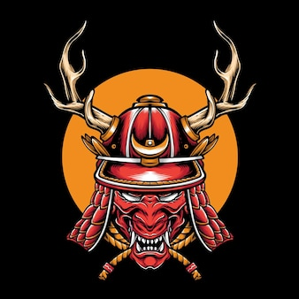 Zbroja głowy samuraja kabuto