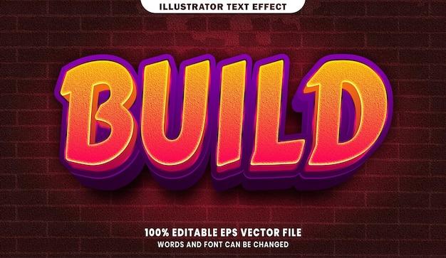 Zbuduj efekt edytowalnego stylu tekstu 3d
