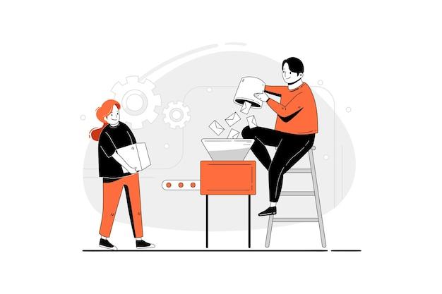 Zbuduj koncepcję ilustracji nowego produktu