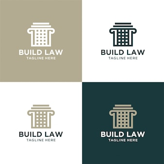 Zbuduj streszczenie prawa z luksusowym projektem logo filaru