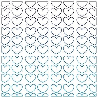 Zdegradowanego konturu ładni serca kształtują dekoraci tło