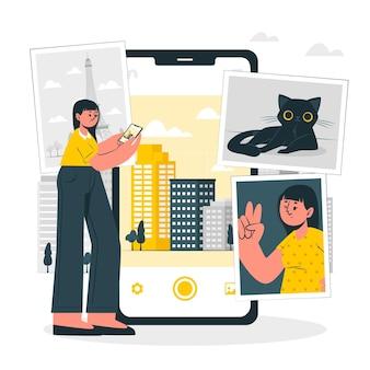 Zdjęcia koncepcja ilustracji