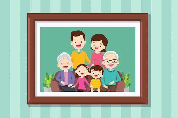 Zdjęcia na ścianach w ramkach lub fotografie z uśmiechniętymi ludźmi