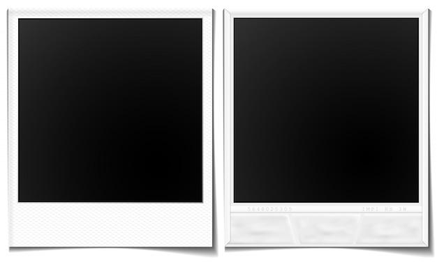 Zdjęcia polaroid z przodu iz tyłu