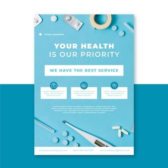 Zdjęcie i tekst medyczny pionowy szablon plakatu