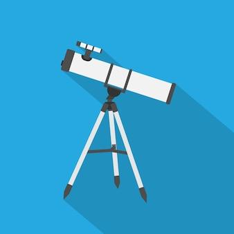 Zdjęcie teleskopu, ikona stylu