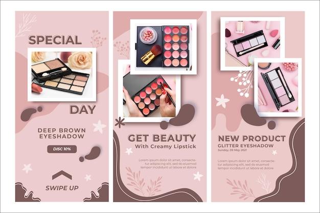 Zdobądź szablon historii kosmetyków kosmetycznych