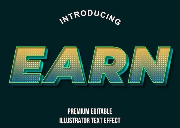 Zdobądź złoty zielony gradient nowoczesny efekt tekstowy