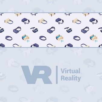 Zdobienia wykonane z izometrycznych zestawów słuchawkowych wirtualnej rzeczywistości