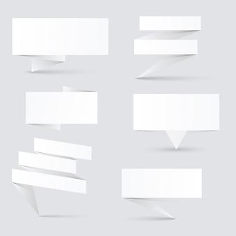 Zdobione banery papierowe