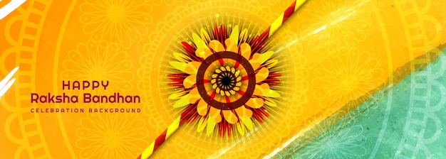 Zdobione rakhi za banner banner raksha bandhan