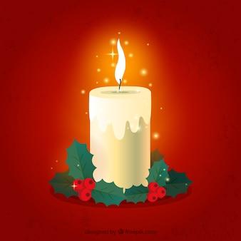 Zdobione świeca świąteczna