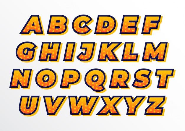 Zdobiony zestaw alfabetów dla sportowców