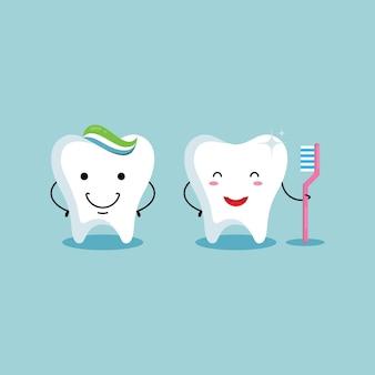 Zdrowa klinika ładny zestaw zębów
