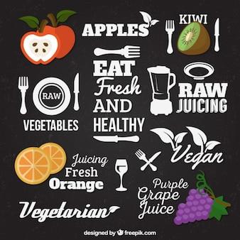 Zdrowa żywność liternictwo