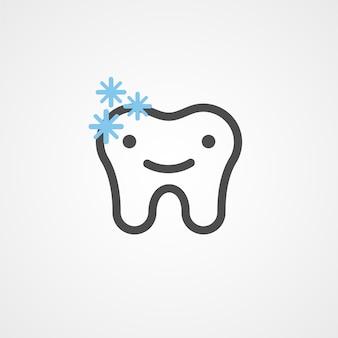 Zdrowe ikony stomatologiczne z błyszczącym zęba