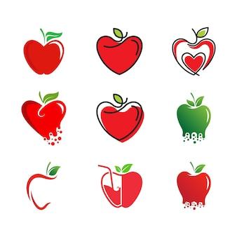 Zdrowe jabłko wektor projekt ikona ilustracja