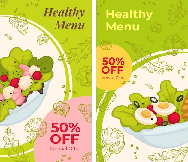 Zdrowe menu 50 procent zniżki na dania?